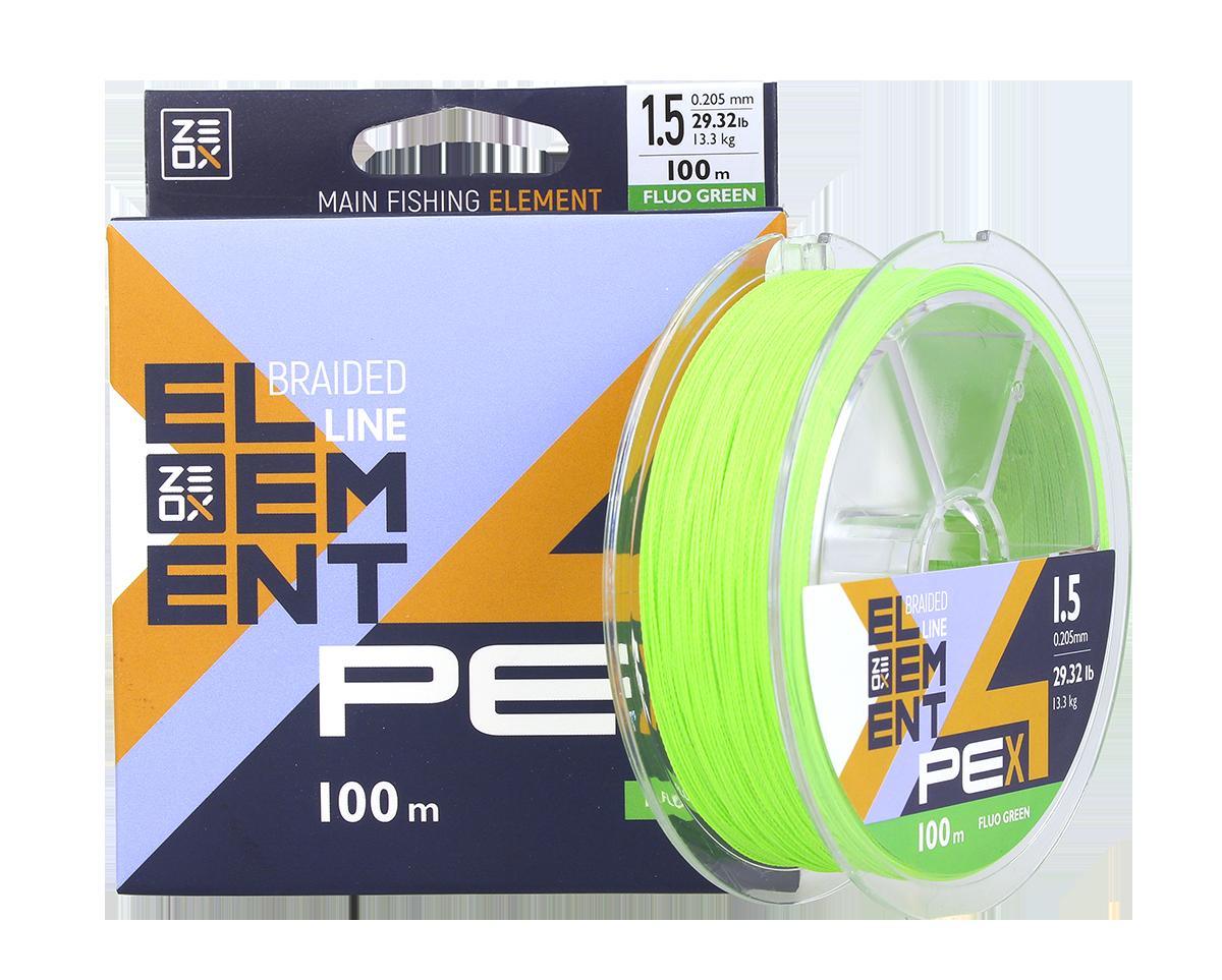 Шнур Zeox Element PE X4 100м FG #0.6