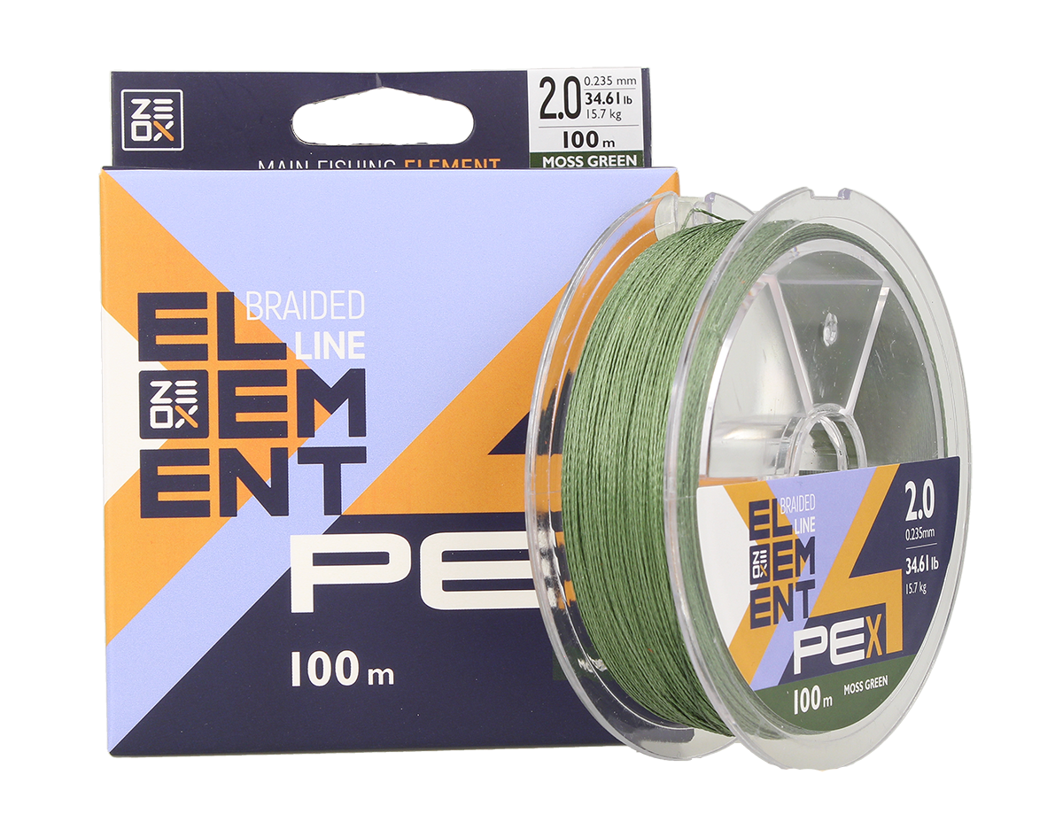 Шнур Zeox Element PE X4 100м MG #0.8